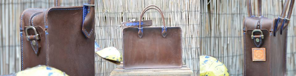 Waxed Briefcase Blue (1)