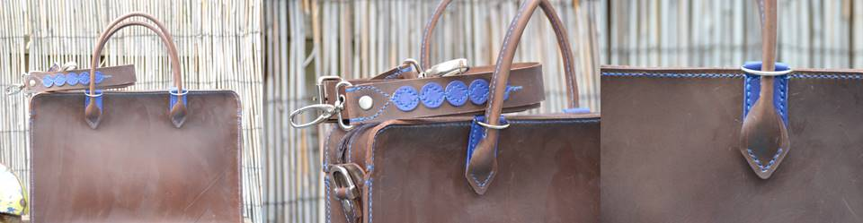 Waxed Briefcase Blue (2)