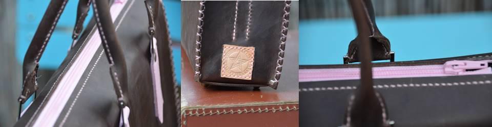 Waxed Pink Handbag (2)