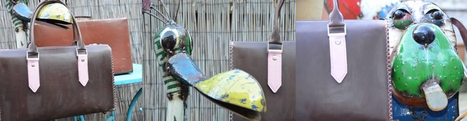 Waxed Pink Handbag (3)