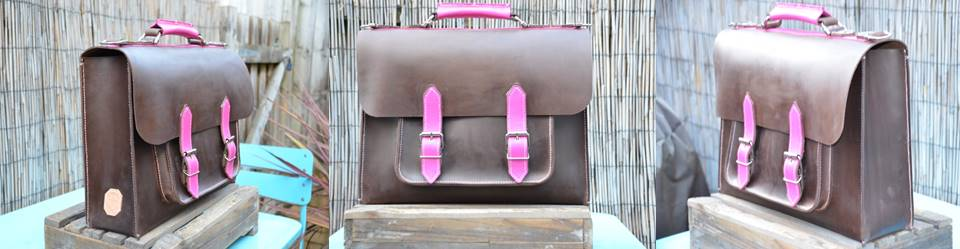Waxed Pink Satchel (1)