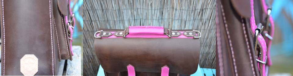 Waxed Pink Satchel (2)