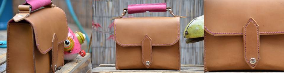 Plum small satchel handle June 18