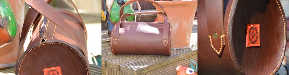 4mm Veg tan leather barrel bag v2 with short handles